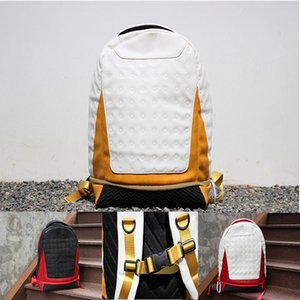 Hot New Backpack leather backpack Jor Mens Womens 13 Designer bag Teenager Black red yellow White Blue Outdoor Basketball Backpack 4Colour