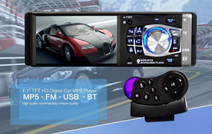 12 V 4.1 pulgadas Bluetooth Radio coche HD Digital FM Reproductor MP5 con interfaz USB AUX SD Definición Una Din TFT Audio Video PlayingFree envío