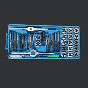 Juego de llaves de rosca métricas y troquelados Pro Pro M6-M12 / M3-M12 Perno de aleación Herramientas metálicas de mano Llave ajustable Juego de corte roscado 12/20 / 40Pcs