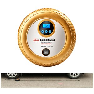 Auto Air Compressor Tire Inflator for Automobiles. Portable 12V DC Electric Car Tire Pump, Auto Shut Off, Digital Pressure Gauge, LED Light