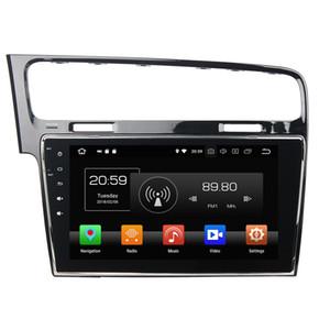 "4 GB + 64 GB Octa Çekirdek 1 din 10.1 ""Android 8.0 Araba DVD Oynatıcı VW Volkswagen Golf 7 için 2013 2014 2015 RDS Radyo GPS WIFI Bluetooth Ayna-link"