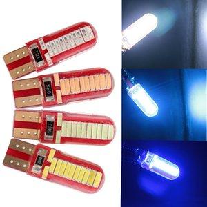 1PC Otomobil için LED Silika T10 W5W COB 24SMD Ampüller Canbus Beyaz Mavi Kırmızı Yeşil Renkli Gümrükleme Işık Okuma Işık Ters Kubbe