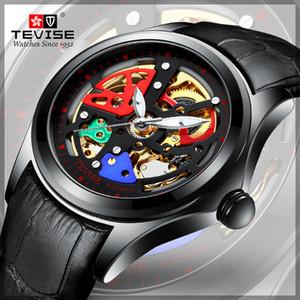 Yeni Tevise Marka Erkekler Mekanik İzle Otomatik Hollow Renkli Saatler Moda Adam Su Geçirmez Spor Saat Relogio Masculino Y19052201