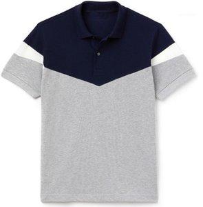 T-shirts Mode Hommes Crocodile Designer Polos Lapel cou à manches courtes rayé imprimé Hommes Polos Adolescent Casual