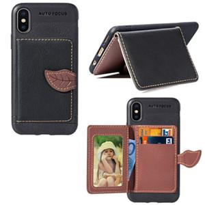 1 قطعة 2018 جديد وصول الإبداعية محفظة جلدية الهاتف حالة تغطية مع فتحات بطاقة حامل القوس حالة جلدية ل فون سامسونج