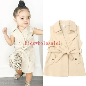 2-7Y Mode bébé Enfants Filles Manteau Veste coupe-vent Manteaux Trench Fashion Jackets Casual Dress