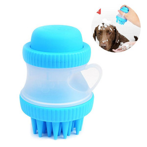 Silicone Pet Bath Brush Massage Brush Gentle Dog Cat Washer Squeezable Soap Bubble Foam Bootle Brush Grooming Tool Pet Massager