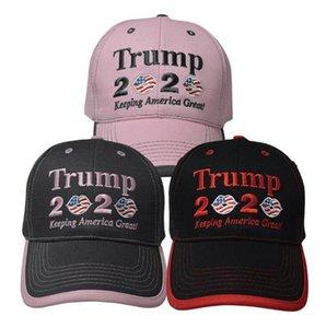 Trump 2020 Berretto da baseball Keeping America Great Again USA Flag del cappello di Snapback Lip ricamo 3 colori OOA8003
