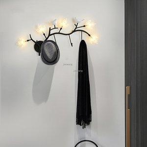 Lâmpadas LED Wall Nordic cabeceira Lamp Bird Bird Lamp Quarto arandelas de parede Luz Sala Home Deco luminárias de iluminação