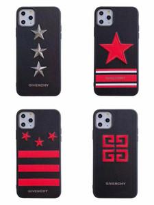 Stickerei-Sterne-Designer-Telefonkasten für iphone 11 11 pro max Xr Xs x 7 7plus 8 8plus 6 6Plus harte rückseitige Abdeckung Markendesign Shell Abdeckung A01