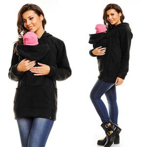 Frauen Frauen-Babytrage Jacke Känguru Warm Mutterschaft Oberbekleidung Coat Schwangere Frauen Kleidung