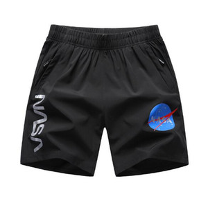 Mens Designer Shorts NASA Letter Printed Mens Beach Sports Shorts Loose Large Size Asian Size L-6XL