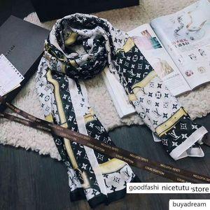 Belt eşarplar Wrap Shawl baskı luoyuruei2018 Fabrika Fiyatı tasarım İpek Eşarp Kadınlar Letter 190 * 80CM