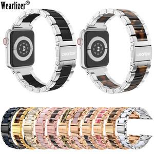 Wearlizer de luxe en acier inoxydable Bracelet en métal pour Watch Band 38mm 42mm Bracelet Bracelet pour la série 5 4 3 2 1 MX200415