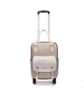 Frauen auf Rädern Rucksäcke Taschen Reisegepäck Reise Trolley Taschen Oxford Reisegepäck-Trolley Räder Rollen Rucksack