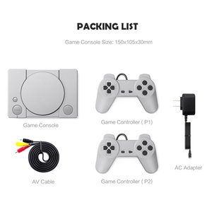 Mini clásico Inicio TV consola de juegos clásicos de 8 bits PS1 jugadores electrónico de bolsillo regalos Juego retro para niños consola de juego de la TV Accessorie 2020