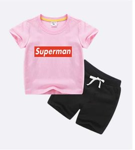 Hot Sell Summer Boys Girls Clothing Children Outfits Short Sleeve Stripe Shirts + Shorts with Belt 2pcs Sets Adorable Baby Suits