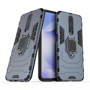 Für Xiaomi Redmi K30 K20 Pro 9T Fall Anti Shock-Abdeckung 360 Rotating Ring Ständer Auto Magnetfuß Abdeckungs-Fall des neuen Entwurfs Black Panther