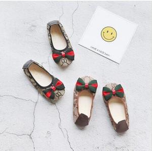 Kinder Mädchen neue koreanische Version des Joker Bow weiche Schuhe Prinzessin Kinderschuhe für Mädchen-Turnschuhe Chaussure Enfant