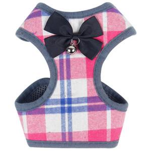 Die New Classic Plaid Hunde-Bekleidung atmungsaktiv Kleine Hundeweste mit Schnalle Bow Warm Puppy Jacken Hunde Bekleidung Pet Supplies 10 Designs Optional