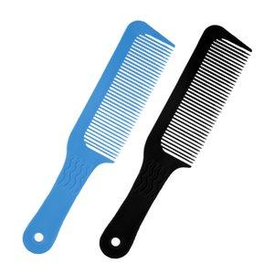 2pcs Pro agitado de dientes planos que corta superior del peine del peluquero de las podadoras de pelo Peine