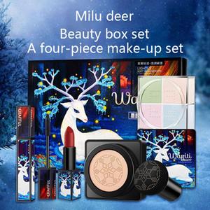 Elk Makeup Set Lippenstift Loose Powder Mascara BB Creme Kleine Pilz-Luftpolster kosmetische Kit Hot Sell Q1