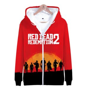RED DEAD REDEMPTION 2 Autumn Winter Zipper Hoodies Women Men Fashion 3D Printed Hooded Sweatshirts Casual Streetwear Clothes