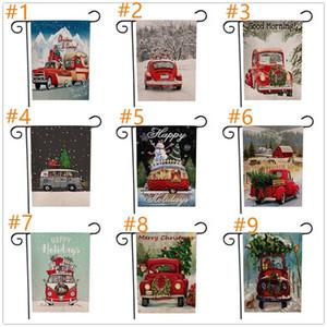 Weihnachtsgarten-Flags Im Freien hängenden Fahnen Garten Flaggen Weihnachtsdekorationen Weihnachten für Partei-Home Decor A03