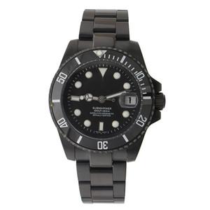 Relógio dos homens GMT Cerâmica Bezel SEA-Morador Gem Preto Aço Inoxidável Cystal com Bloqueio de Deslizamento Automático Relógio Mecânico dos homens
