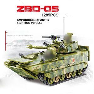 Panlos 632.007 tanque militar anfibio de infantería vehículo de combate de tanques Building Blocks Ladrillos tanques del modelo Kid juega el regalo de Navidad