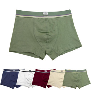 5 Pcs Lot Pure Color Baby Boys Boxer For 2-16y Shorts Panties Soft Organic Cotton Children's Kids Underwear Teenager Underwear