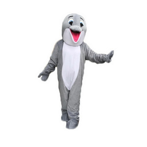 dauphin gris costume de mascotte personnage de dessin animé Taille adulte Longteng de haute qualité (TM) 05