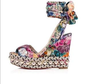 Dişiler Elmas Bowie Kama yaz sandalet Yeni moda Rahat kadın sandalet kutu ile Hakiki deri parti düğün ayakkabı