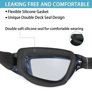 Swim Goggles,No Leaking Anti Fog Uv Protection Swimming Goggles For Men Women Adult Youth Kids (Over 6 Years Old) Goggles