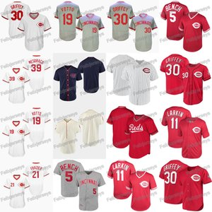 11 Barry Larkin 1911 1912 1919 Joey Votto Devin Mesoraco Ken Griffey Jr. Todd Frazier Johnny Bench jerseys del béisbol
