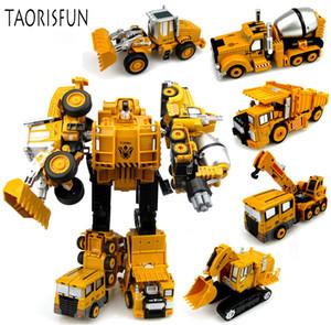 2 in 1 Ingegneria della lega Trasformazione Robot Robot Deformazione giocattolo Lega di metallo Costruzione di veicoli Veicolo assemblaggio di robot per bambini SH190910
