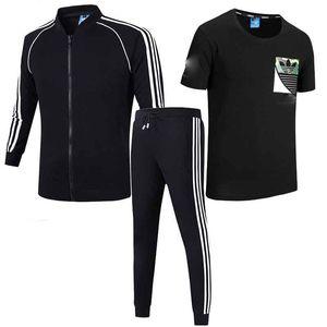 Marque Hommes Ensemble de 3 Survêtement Hommes Casual Sportwear Ensemble Sweats Sweat Pantalon de Jogging Homme Joggers À Capuche Costumes