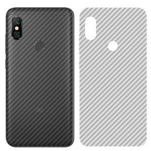 Película protectora de pantalla trasera de fibra de carbono para Xiaomi Mi 8 A2 Lite Poco Pocophone f1 Max Mix 3 Redmi pegatina nuevo
