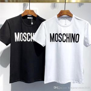 squalo di modo della maglietta dei nuovi uomini di stampa degli uomini T-shirt e le donne casuali di alta qualità camicia bianca a maniche corte nera