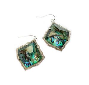 Mode Kendra Kite Abalone Dangle rhombus boucles d'oreilles bijoux pour les femmes