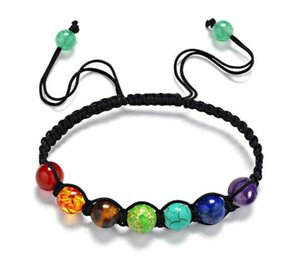 Chakras Armband Regenbogen sieben Farben Yoga Energie Perlen gewebt Armband hochwertige Shop neue heiße Verkäufe