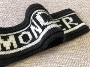 Diseño clásico vendas elásticos de lana para mujeres y hombres Italia marcas de cintas para la cabeza de invierno caliente grueso bandas del pelo regalos de Navidad Turbante
