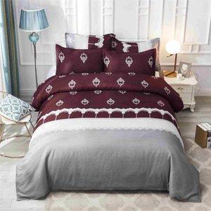 Новый 3D мода постельное белье комплект красный кружевной леди одеяло покрывало наволочки Кристалл бархат кружева края