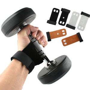 Nueva llegada Protectores Guanteletes levantamiento de pesas Barbell Grips puro cuero guantes de deportes de fitness con mancuernas palma de protección ayuda de muñeca