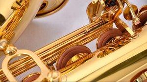نيو المشتري JTS -587gl ب ب تينور ساكسفون عالية الجودة براس الذهب الطلاء المهنية آلات موسيقية شحن مجاني مع لسان الحال