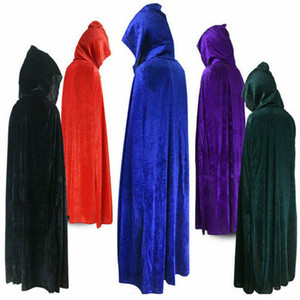 Gothic Loose Hooded Cloak Adult Elf Witch Long Carnival Halloween Cloaks Capes Robe Larp Women Men Vampires Grim Reaper Party