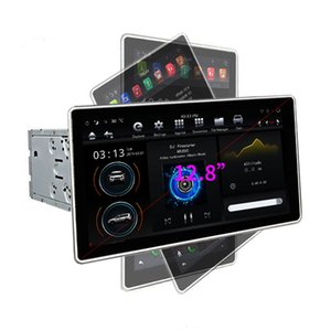 Beliebte 12,8-Zoll PX6 Super CPU 2K Ultra-HD-Bildschirm 180 ° -Drehung Android 8.1 Intelligentes Automobil-Multimediasystem Auto GPS-Navigator