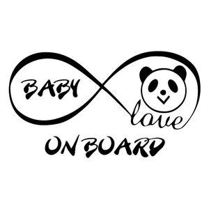 17.2*9.6CM Love Panda Bear Vinyl Decal BABY ON BOARD Car Window Trunk Decoration Sticker