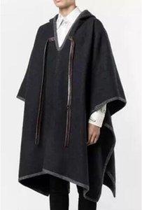 الرجال الخندق معاطف 2021 الرجال الملابس الأزياء خمر الصوف معطف زائد الحجم الخريف الشتاء عارضة مصفف الشعر البلوز S-5XL عباءة معطف