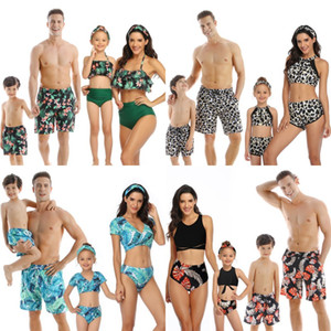 Dad Son Swimwear Summer Beach Family Look Mom And Daughter Swimwear Bikini Matching Outfits Father Boys Board Shorts